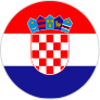 round flag of croatia large