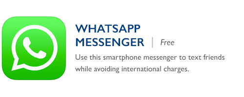 WhatsApp Messenger - Free - Use this smartphone messenger to text friends while avoiding international charges.