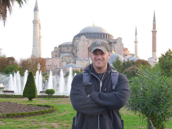 Here I am at the Hagia Sophia.