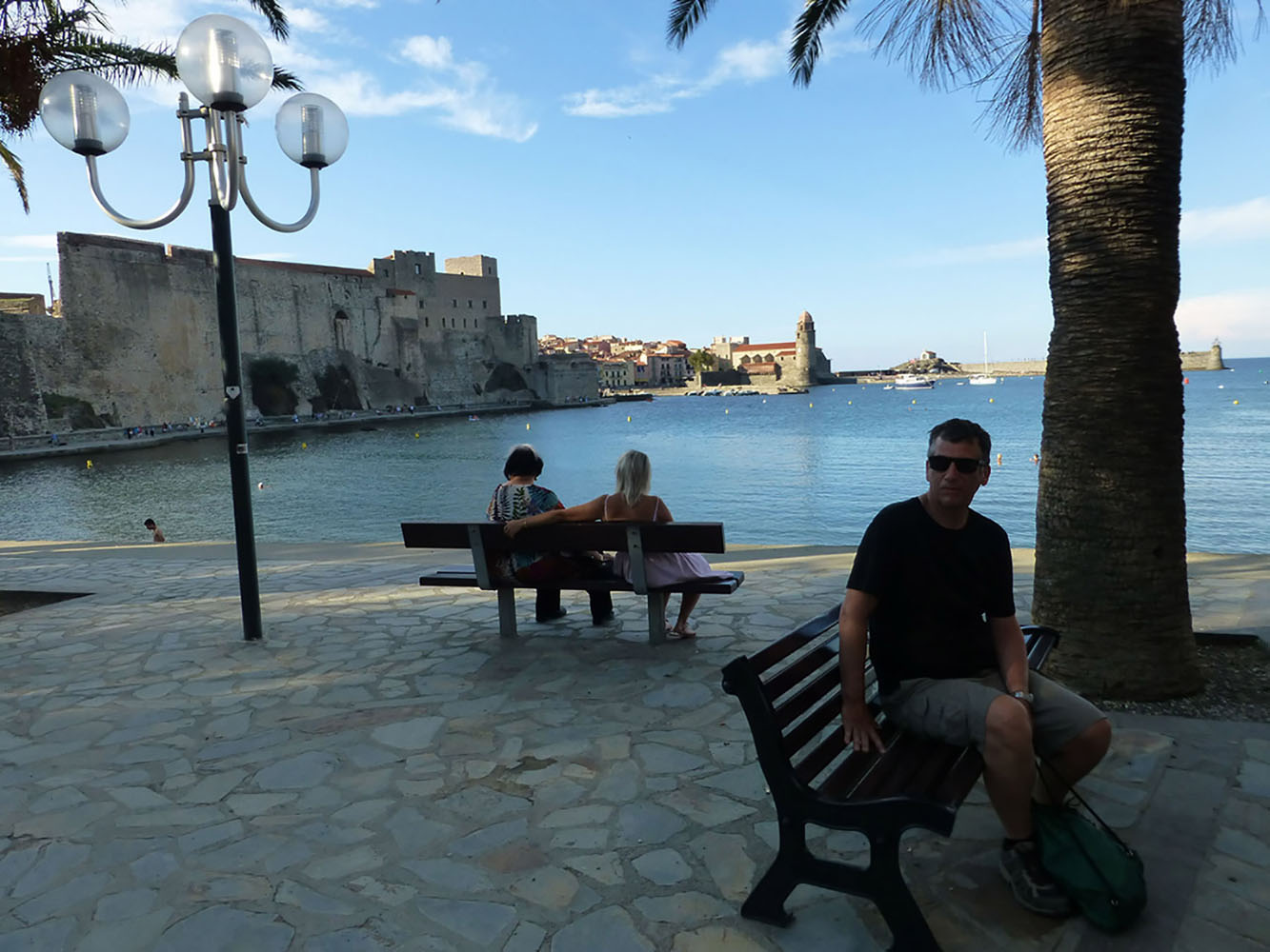 The scenic harbor of Collioure.