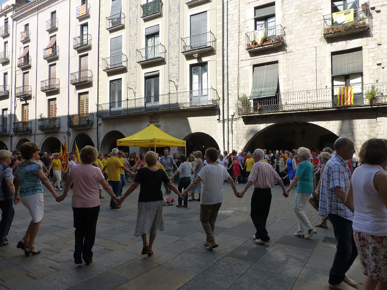 Everything was festive in Girona on the National Day of Catalonia.