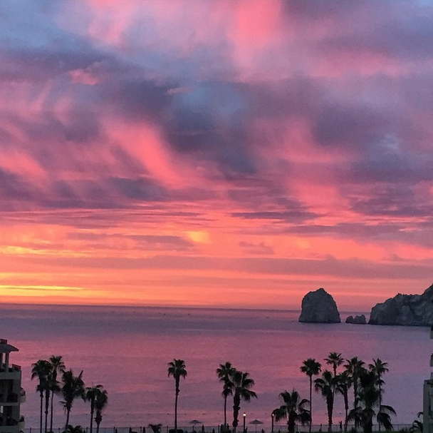 Cabo San Lucas, Mexico at sunset.