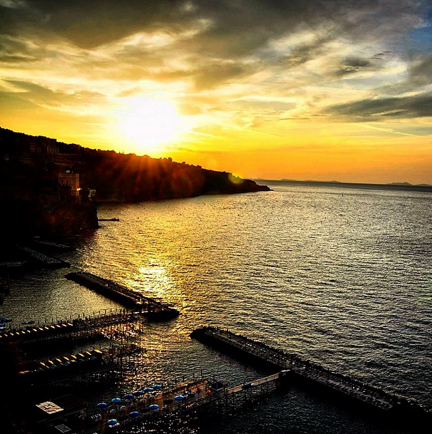 Sorrento, Italy at sunset.