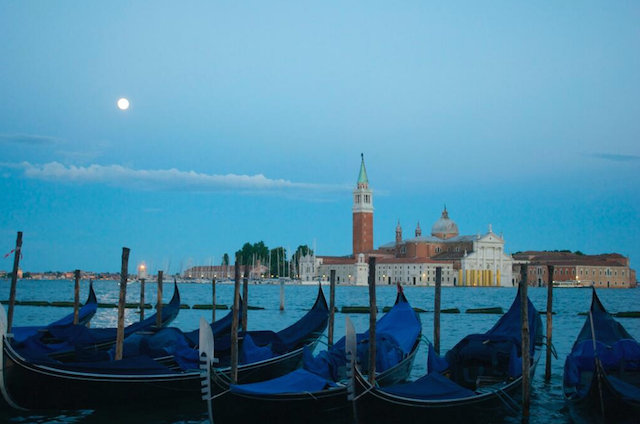 Supermoon in Venice during overnight stay with Quest by Doug K.