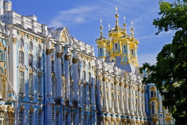 Visiting Catherine's Palace in St. Petersburg, Russia with Azamara<sup><span>®</span></sup>.