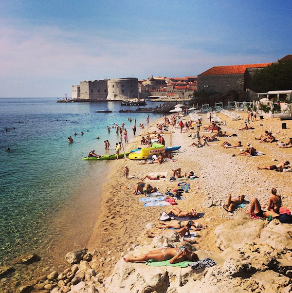 Bonje Beach in Dubrovnik, Croatia.