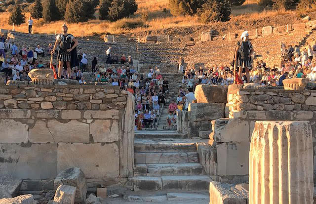 A special Azamara event at Ephesus.