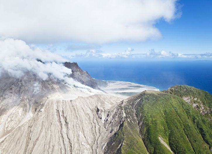 Helicopter to Montserrat Volcano