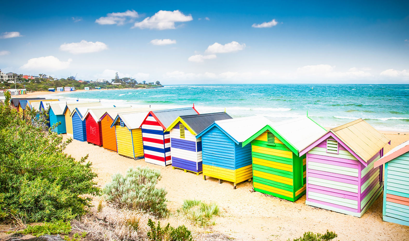 Brighton Beach in Melbourne, Australia.