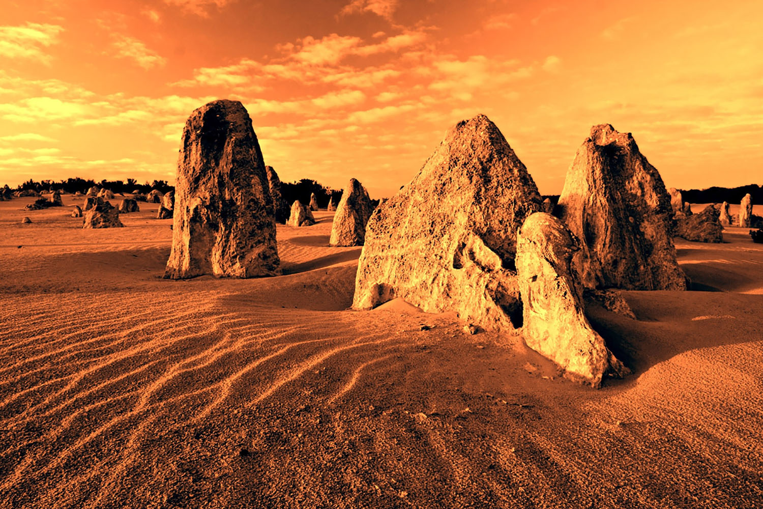 ​The Pinnacles in Australia