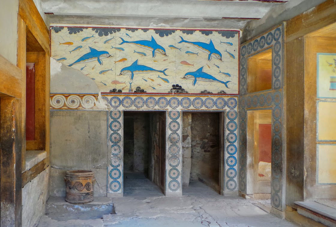 Knossos Palace in Crete.