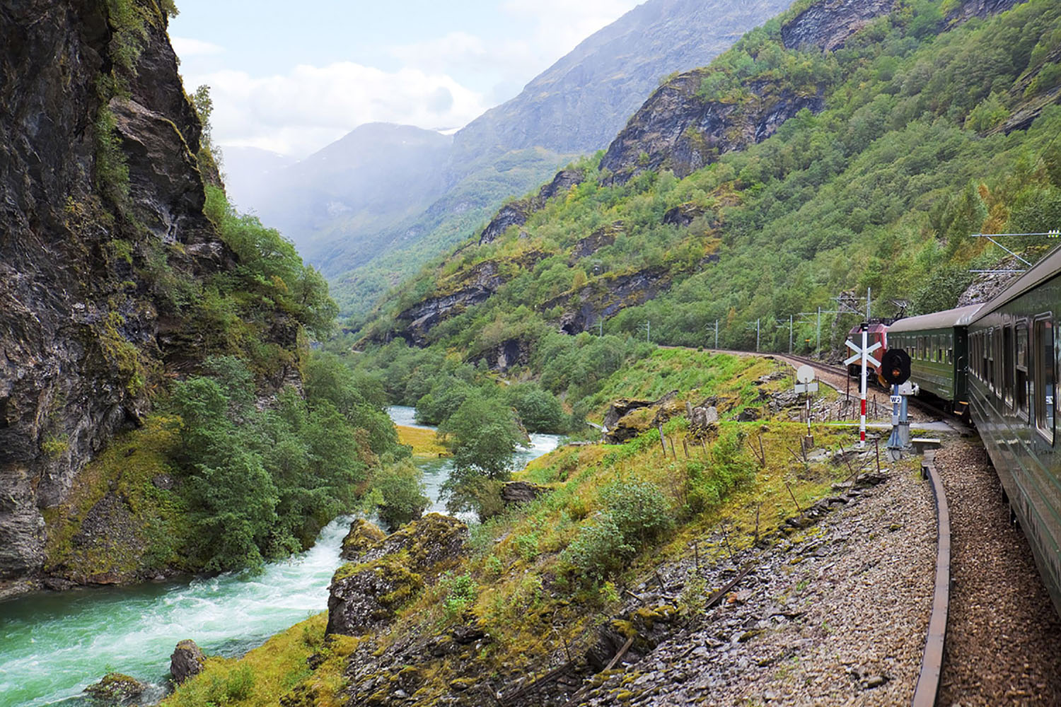 A ride on the Flam Railway in Norway delivers breathtaking scenery.