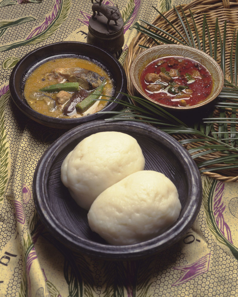 Cuisine served in Ghana with fufu