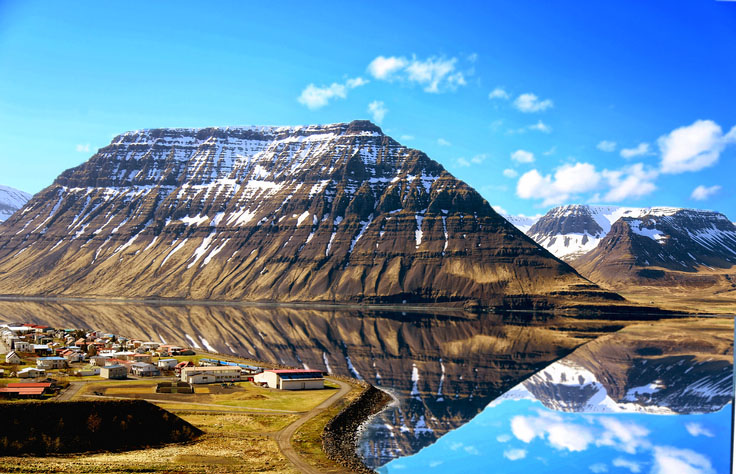 A mountain in Isafjordur