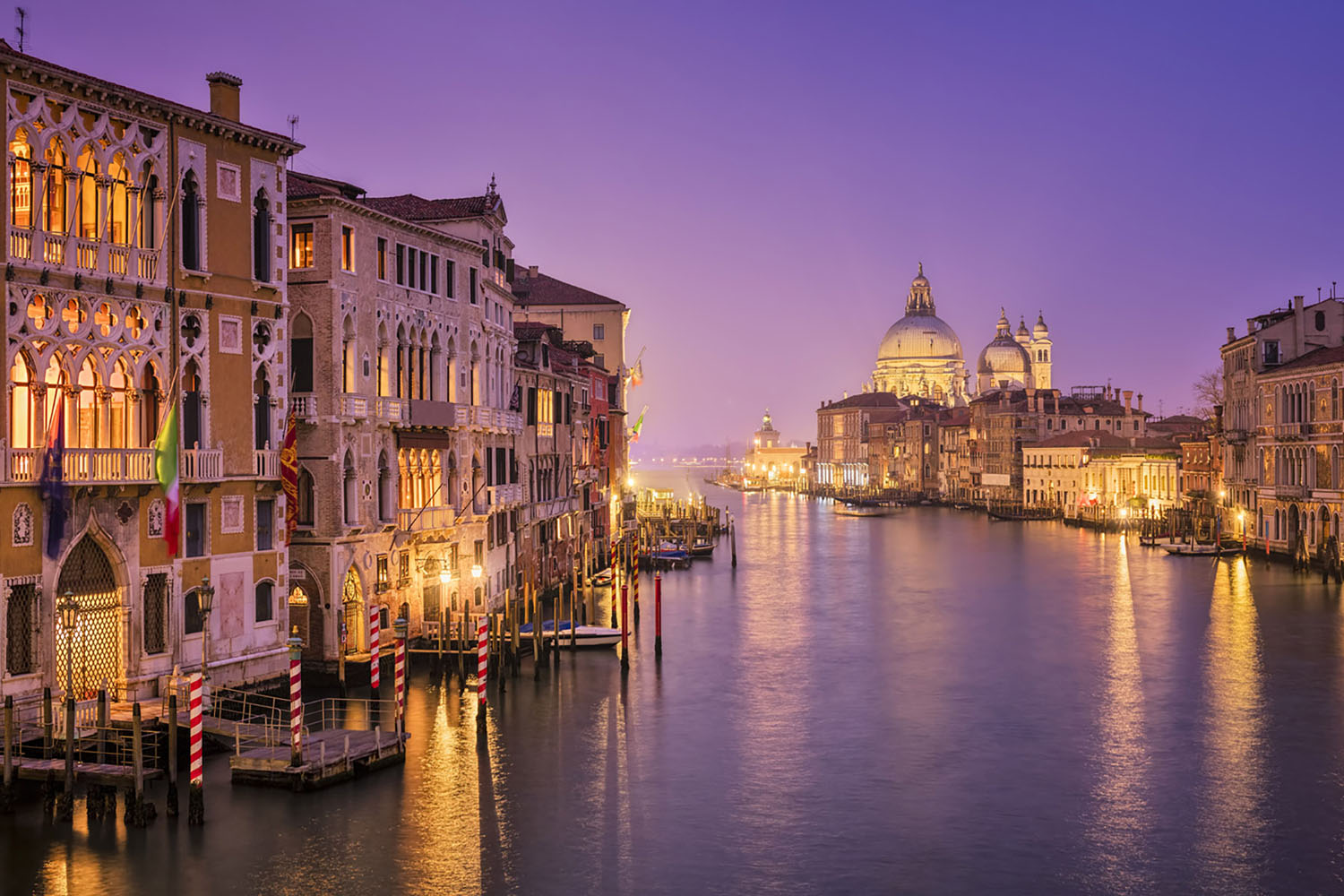 Venice, one of the most haunted cities in the world, at night.