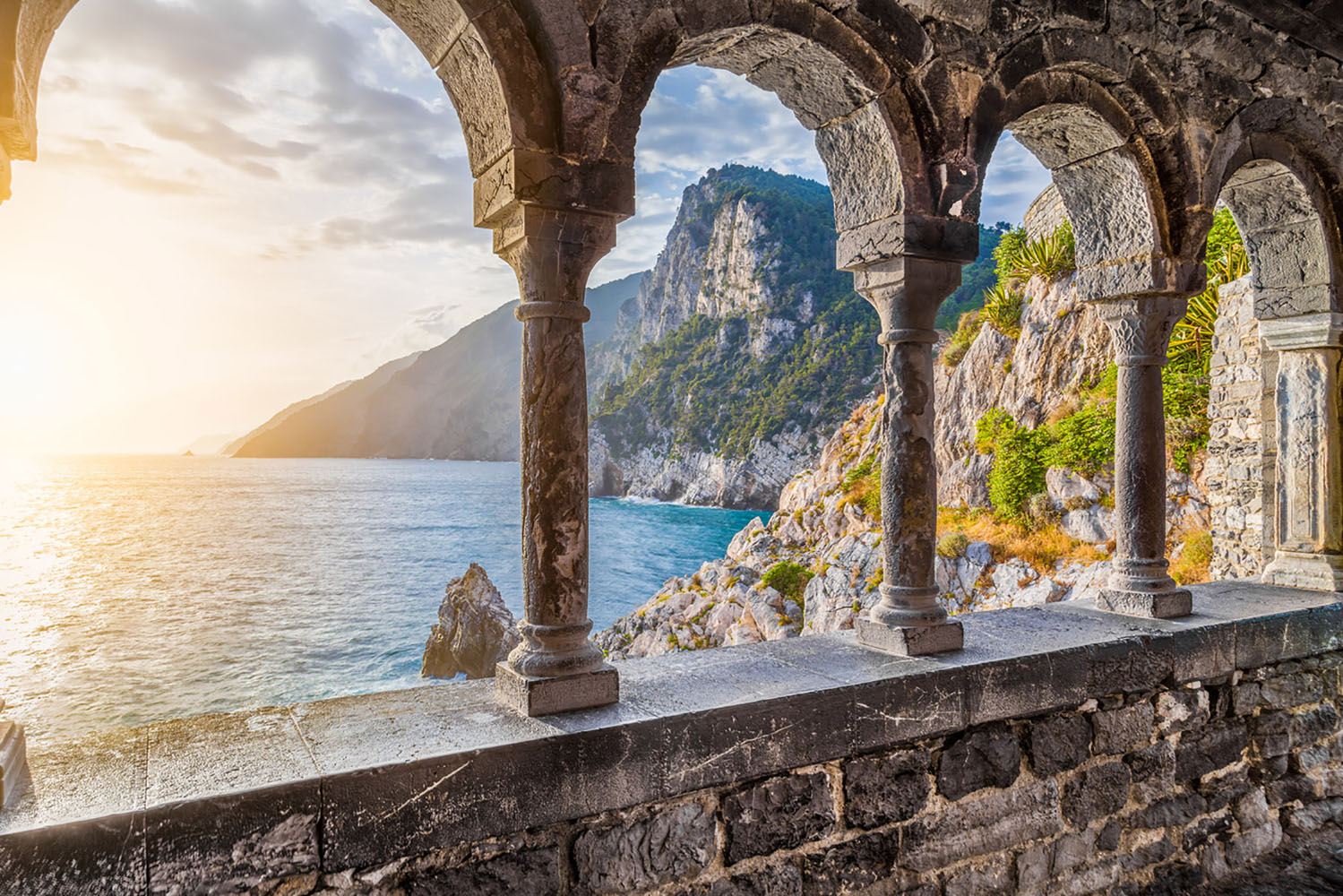View from the Church of St. Peter in Porto Venere, Italy