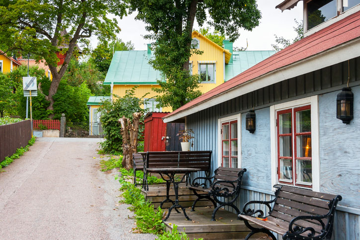 A street in Sigtuna, the oldest town in Sweden