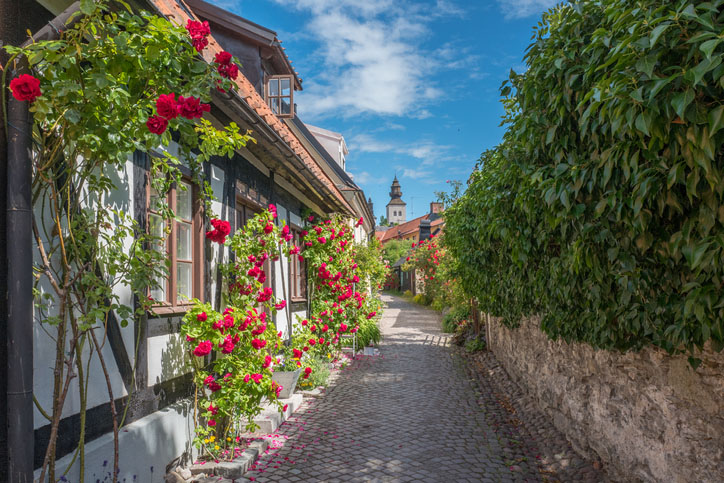 The medieval town of Visby in Sweden