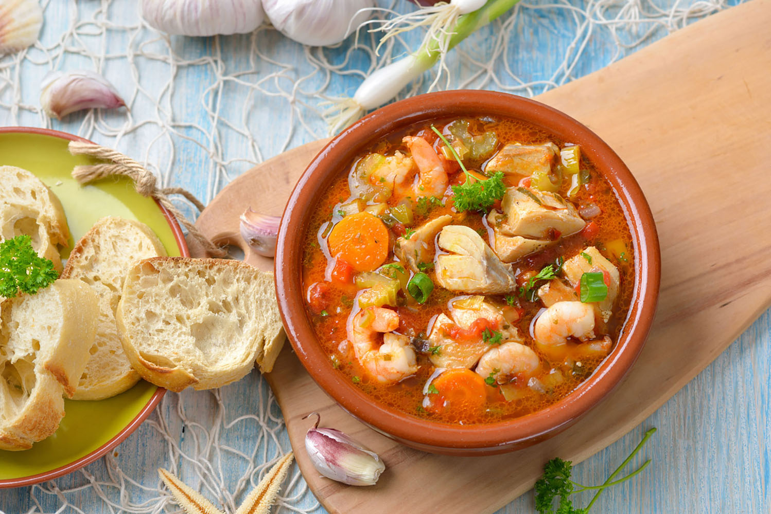The French dish of Bouillabaisse.