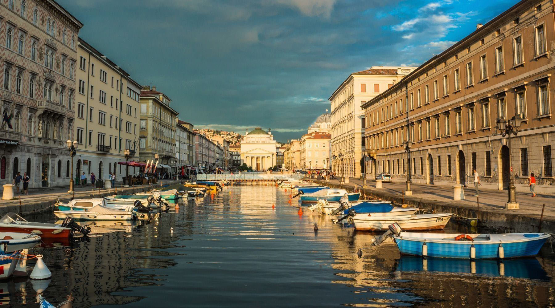 The canals of Trieste, Italy
