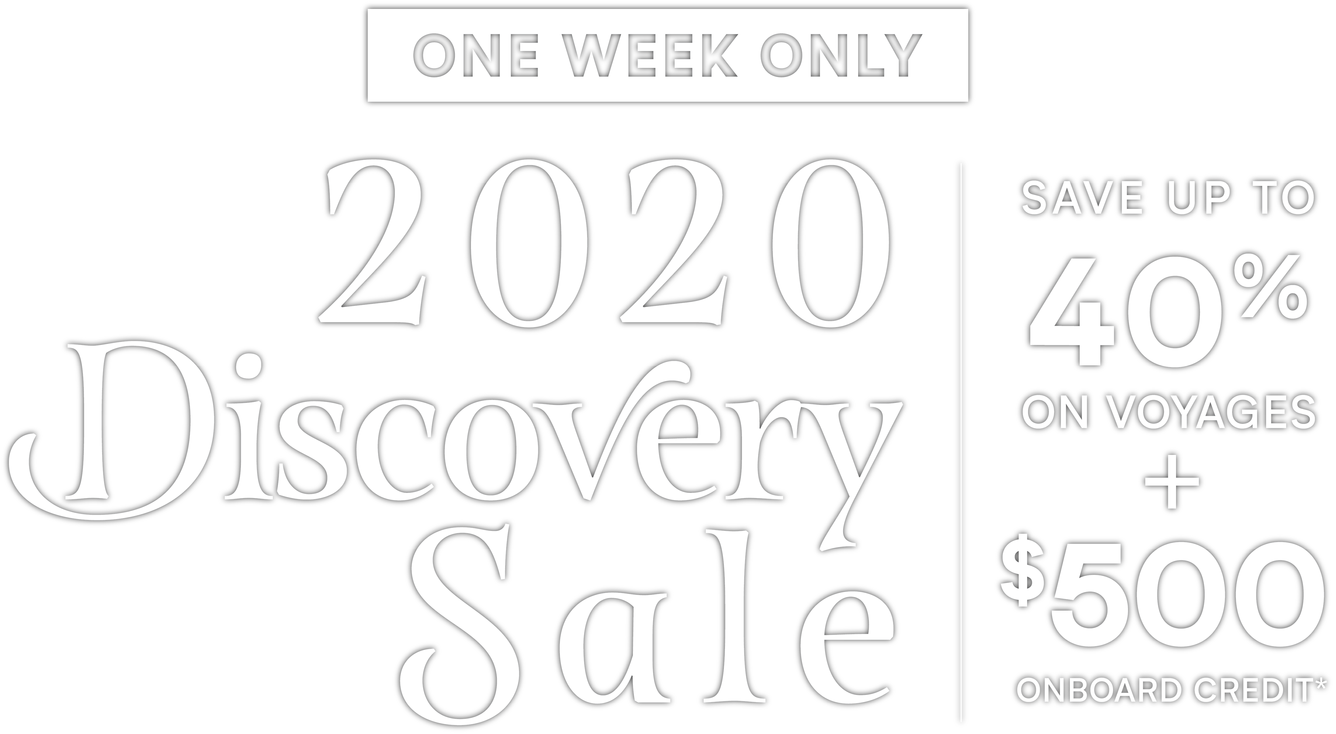Discovery Sale