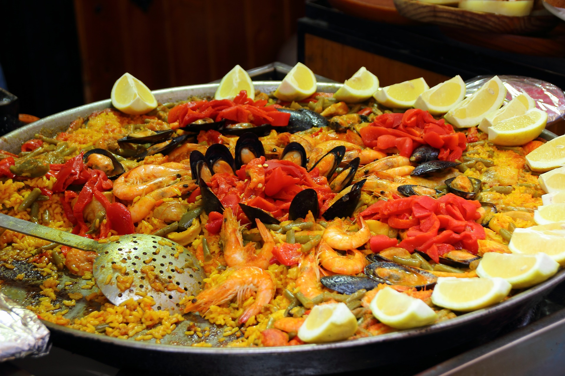 Paella is a traditional Spanish dish