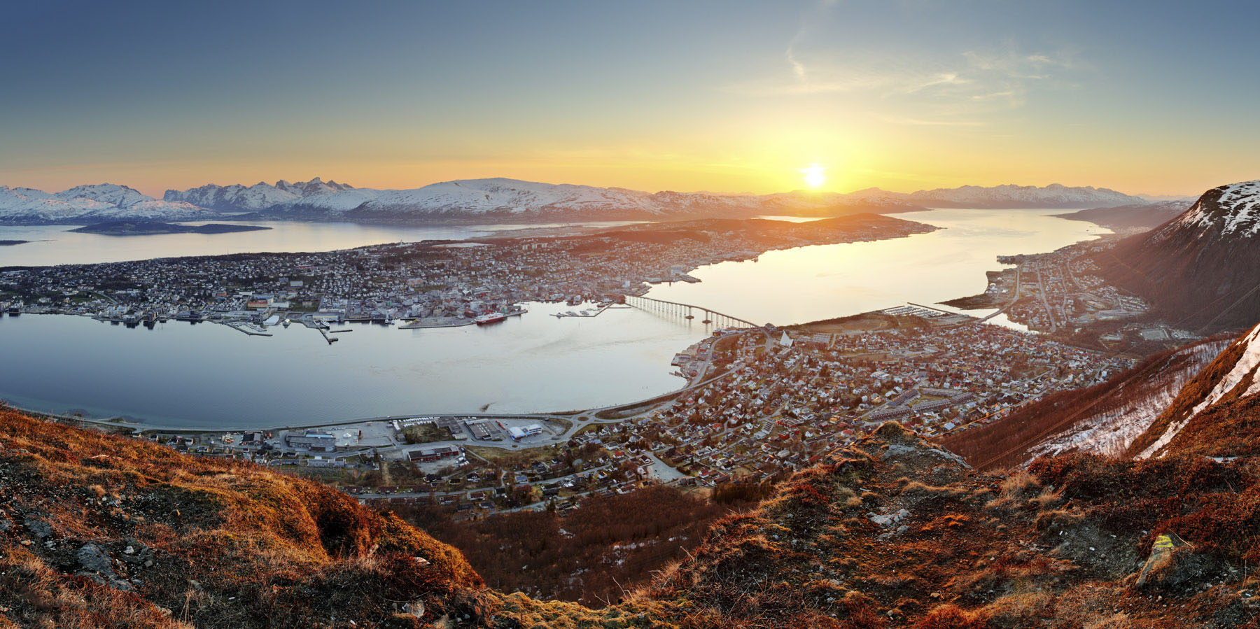 Tromso, Norway is the land of the Midnight Sun.