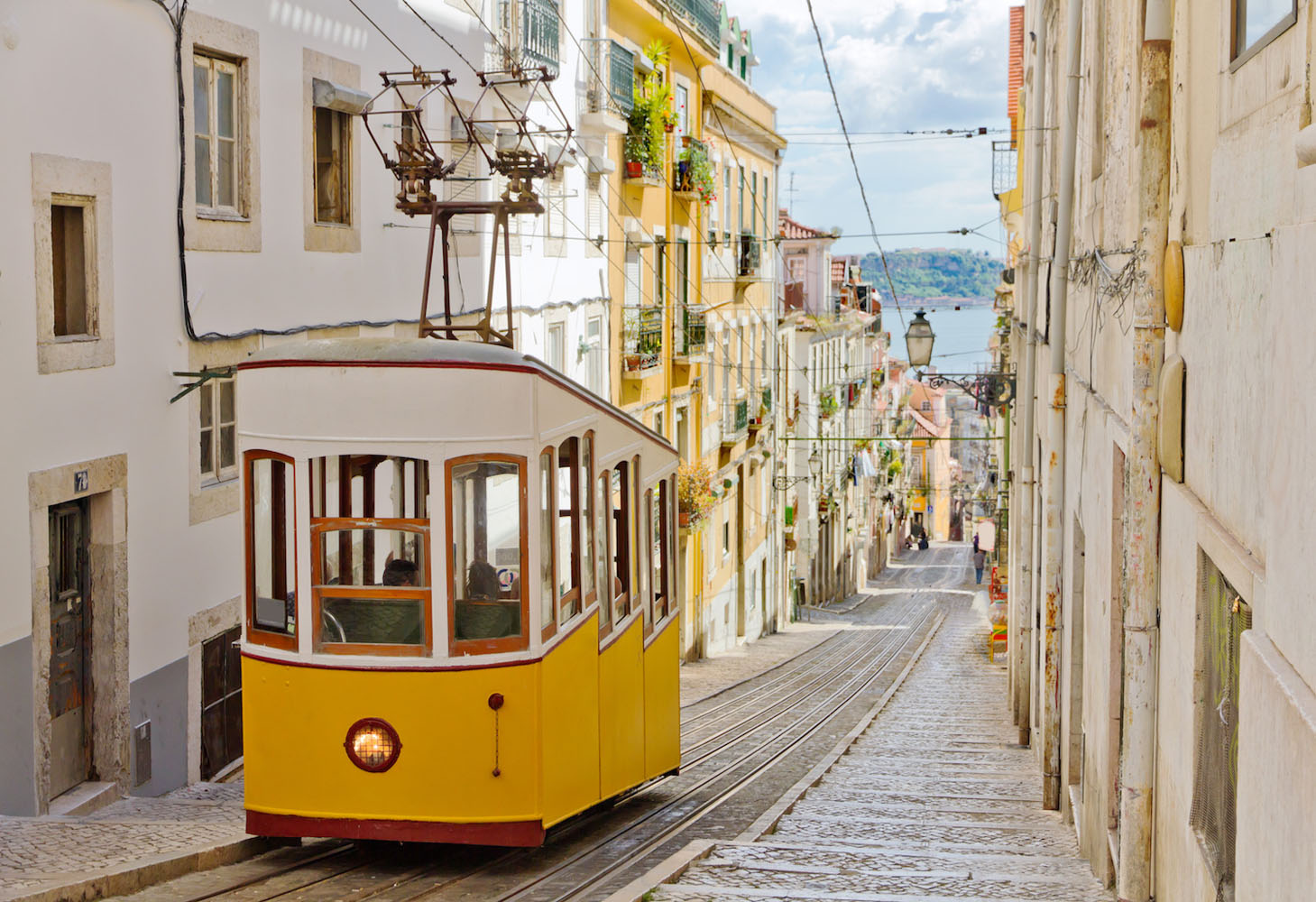 The best way to get a feel for Lisbon is by taking a tram ride through the city.