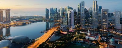 aerial view of Singapore landscape