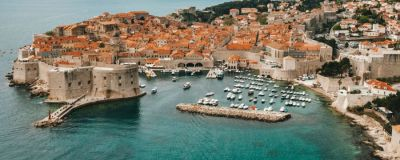 Looking over Dubrovnik Coastline, Croatia