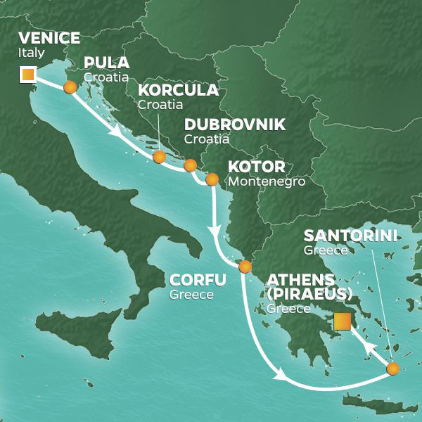 9 Night Dalmatian Coast To Athens Voyage 10 Jun 19