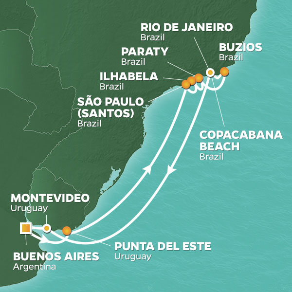 New Year's Eve In Rio Cruise, Round trip from Buenos Aires